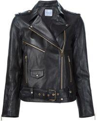 Anine Bing - Biker Leather Jacket - Lyst