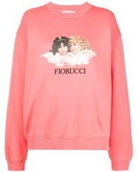 Fiorucci プリント スウェットシャツ - ピンク