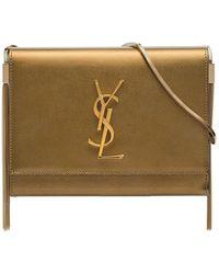 Saint Laurent Brown Kate tassel leather box bag - Marron