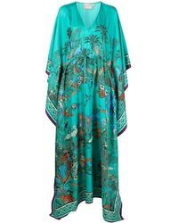 Mary Katrantzou フローラル ドレス - ブルー
