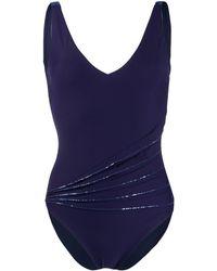 La Perla スパンコール ワンピース水着 - ブルー