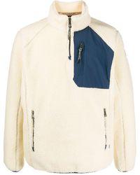 Napapijri Jersey texturizado con cremallera - Blanco