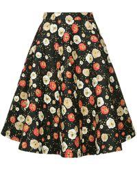 Calvin Klein Floral Quilted Coron Skirt - ブラック