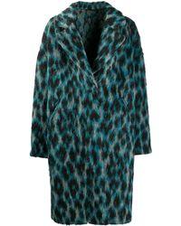 Golden Goose Deluxe Brand Пальто Alberta С Леопардовым Принтом - Синий