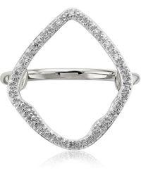 Monica Vinader Riva Hoop Diamond Cocktail Ring - Металлик
