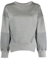 Alexander McQueen Толстовка С Вышитым Логотипом - Серый