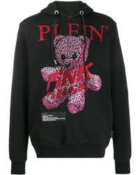 Philipp Plein Hoodie Met Kristal - Zwart