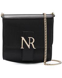 Nina Ricci Bolso de hombro plegable con logo - Negro