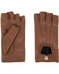 Manokhi Mano Leather Gloves - Brown