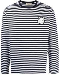 Maison Kitsuné パッチ Tシャツ - ブルー