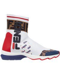 Fendi Mania Slip-one Sneakers - White