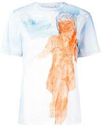 Christopher Kane プリント Tシャツ - ブルー
