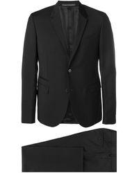 Valentino スリムフィット スーツ - ブラック