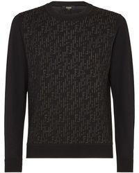 Fendi Пуловер С Логотипом Ff - Черный