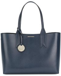 Emporio Armani | Large Charm-detail Tote | Lyst