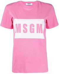MSGM Футболка С Логотипом - Розовый