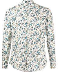 Xacus Graphic-print Cotton Shirt - White