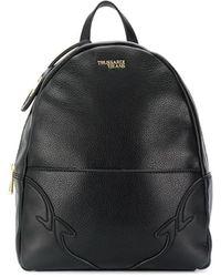 Trussardi Embossed Logo Backpack - Black