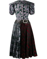 Chopova Lowena Belted Safety Pink Skirt - Black