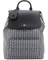 Tory Burch Gemini Link Coated Backpack - Black