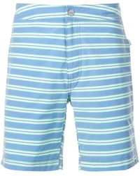 Onia Striped swimming shorts - Bleu