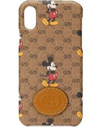 Gucci X Disney Iphone X/xs Hoesje - Meerkleurig