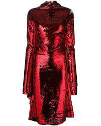 Paula Knorr - Asymmetric Sequin Midi Dress - Lyst
