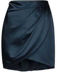 Michelle Mason ドレープ シルクミニスカート - ブルー