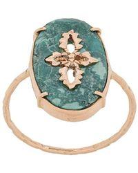 Pascale Monvoisin - 9kt Rose Gold Sunday Turquoise Ring - Lyst