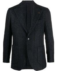 Gabriele Pasini シェブロン シングルジャケット - ブルー