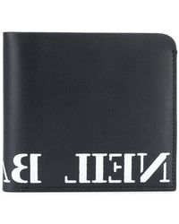 Neil Barrett - Logo Print Wallet - Lyst