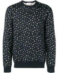 Ferragamo プリント セーター - ブラック