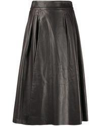 Dolce & Gabbana Aライン スカート - ブラウン