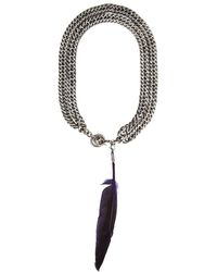 Ann Demeulemeester Chain Necklace - Metallic