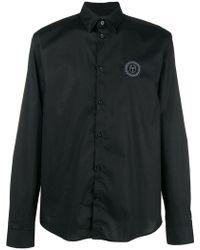 Frankie Morello - Embroidered Logo Shirt - Lyst