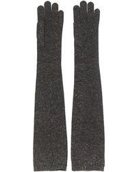 Brunello Cucinelli Перчатки С Эффектом Металлик - Серый