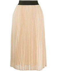 Edward Achour Paris Pleated Midi Skirt - Yellow