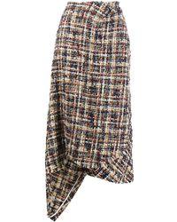 Lanvin ツイード スカート - ブルー