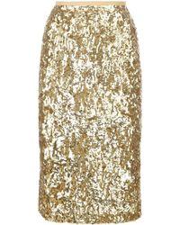 Michael Kors Sequinned Pencil Skirt - Metallic