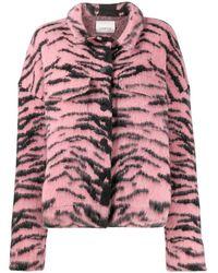 Laneus Куртка С Тигровым Принтом - Розовый