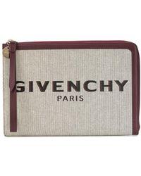 Givenchy Клатч На Молнии С Логотипом - Пурпурный