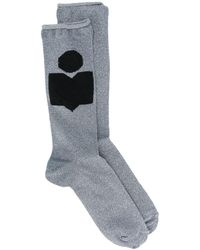 Isabel Marant Fine Knitted Socks - Blue