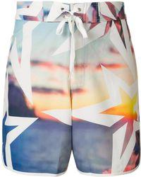Perfect Moment Super Mojo Print Swim Shorts - Blue
