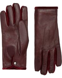 Burberry Cashmere-lined Gloves - Red