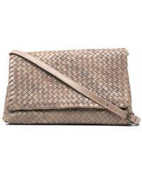 Officine Creative Interwoven Leather Shoulder Bag - Grey