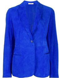 P.A.R.O.S.H. Fitted Single-breasted Blazer - Blue