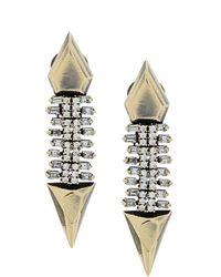 Iosselliani - White Eclipse earrings - Lyst