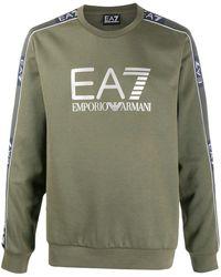 EA7 Logo Print Jumper - Green