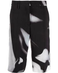 Off-White c/o Virgil Abloh Liquid Melt Shorts - Schwarz