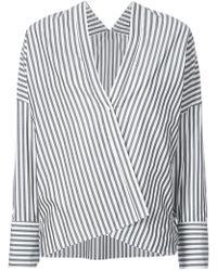 Nili Lotan - Striped Single Button Shirt - Lyst